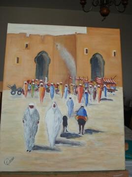 Paysage Oriental du  peinture(Maître Olivier SUIRE VERLEY)