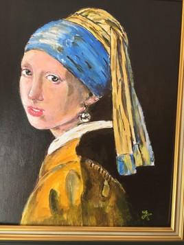 Jeune fille à la perle (d'après Vermeer)