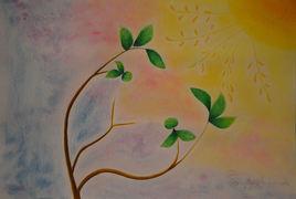 Peinture Sous le vent enchanté