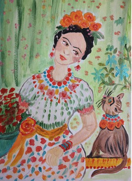 KAHLO CAT ET FRIDA
