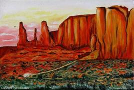 The three sisters of Monument Valley