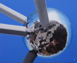 Une sphère de l'Atomium à Bruxelles