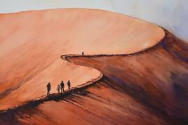 Dunes au soleil couchant