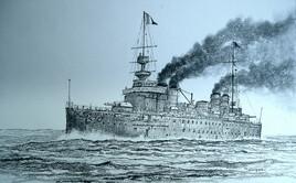 Le croiseur Léon Gambetta