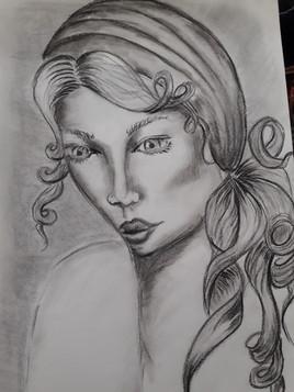 Femme au foulard