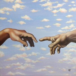 Mains d'après La Création d'Adam