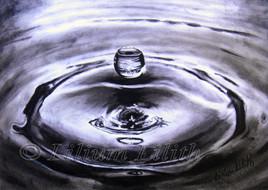 Dessin à l'huile: Goutte d'eau
