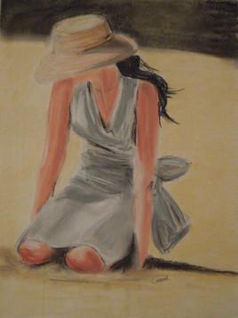 Jeune femme à la mer