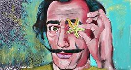 portrait numérique Salvador Dali