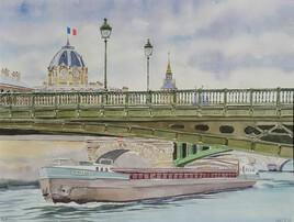 2020-37 Peniche sous un pont de Paris