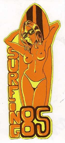 """stikers """"surfing 85"""""""