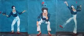 Triptyque Le mime