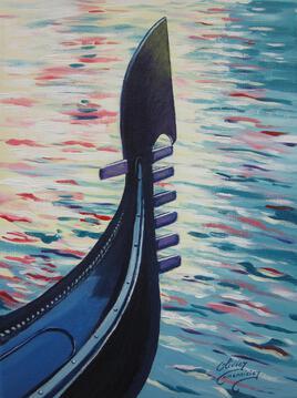 Venise, ma belle Gondole (40cm x 30cm)