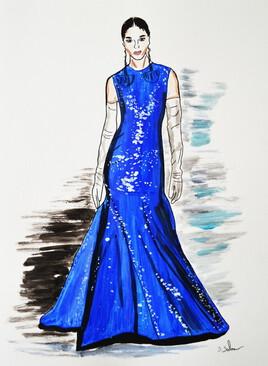 Robe Valentino haute couture, printemps été 2020