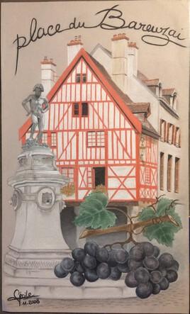 Souvenir de Bourguignonne - Place du Bareuzai
