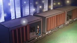Le train est à l'arrêt