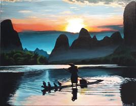 paysage de Chine