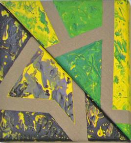 Triangles marbrés