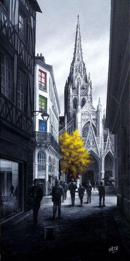 """""""L'Arbre Jaune de la Place Saint Maclou - Rouen"""""""