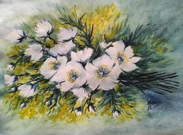 Bouquet au Fleurs blanches