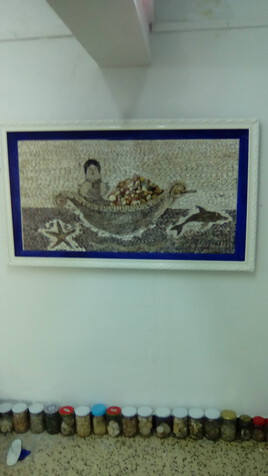 Mosaique en coquillage 100% naturel