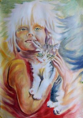 """un chat c'est un cœur avec du poil autour (""""Brigitte bardot"""")"""