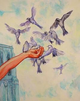 l'oiseau en cage rêvera des nuages