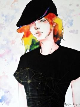 femme au beret
