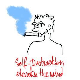 self destruction elevates the mind