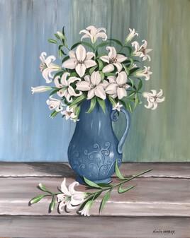 bouquet de lys blancs