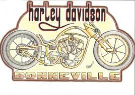 Dessin Harley Bonneville