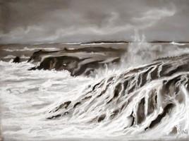 Peinture La tempête.