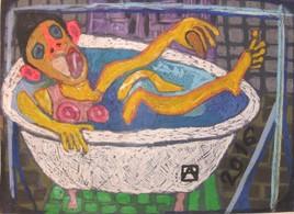 Plaisir de prendre un bain