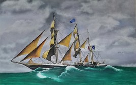 Le Belem en mer