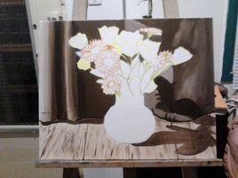 étape de réalisation d'une peinture