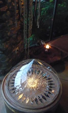 Zôme en verre - Géométrie sacrée