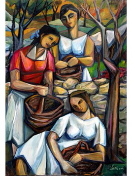 La rècolte des olives