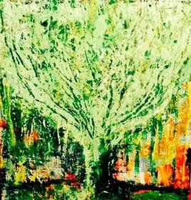 """Treee, 20""""x20"""" acrylique"""