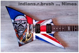 guitar airbrush custom design ... indians.r.brush ... Nimes