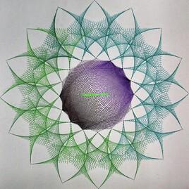 une fleur en géométrie .