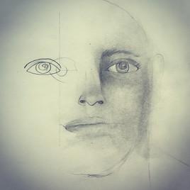 Demi-visage sketch
