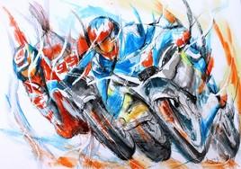 386 Mouvement de motos