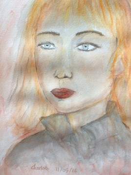 Blond french girl witch big blue eyes