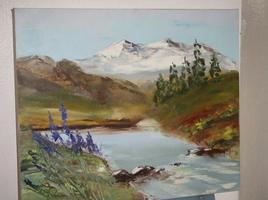 Paysage de lac et montagnes