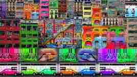 art street color contemporain
