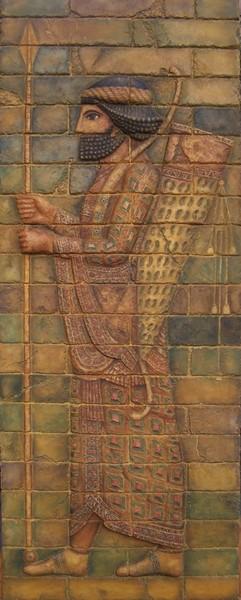 Arquero babilónico II. med: 48x116x3 cm.