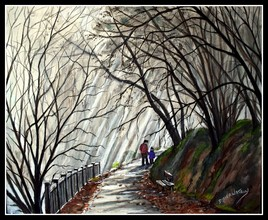 Balade au parc nord en hiver au Ulis