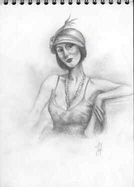 """Jeune Femme des années """"Folles"""""""