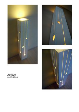 Lampe en Corian grand modèle