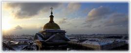 Cathédrale St Issac à St Pétersbourg. Février 2018.